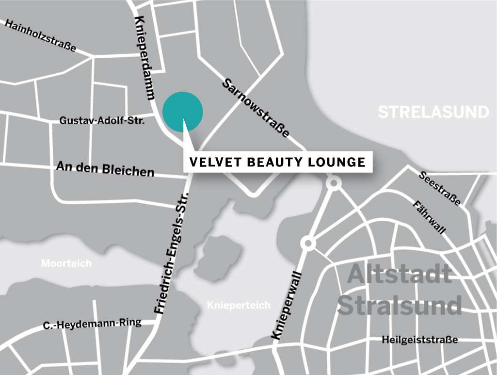 Karte Velvet Beauty Lounge